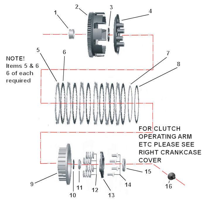 mk2 clutch parts